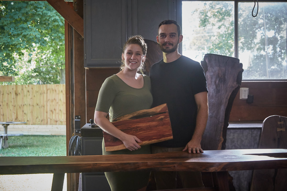 Krista and Josh Weber of Timber Woodcraft in Kentucky